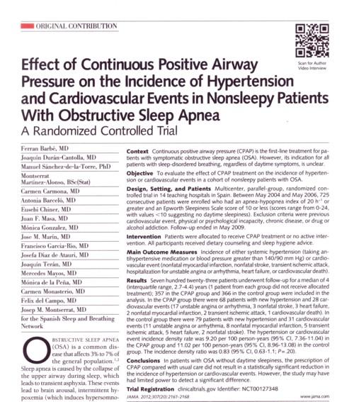 CPAPの高血圧への影響JAMA.jpg